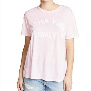 MIKOH / ALOHA VIBES ONLY TEE / CLOUD PINK / SIZE 0